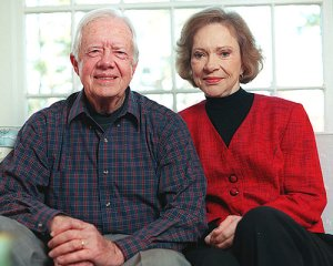 A true partnership - President Jimmy Carter and his wife Rosalynn work hand-in-hand through the Carter Center.