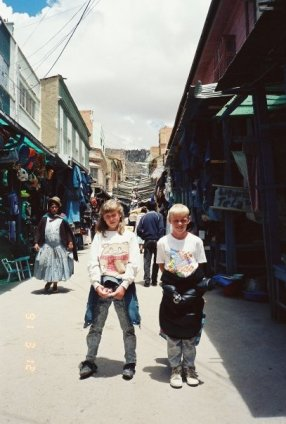 With my brother Jonathan in La Paz, Bolivia
